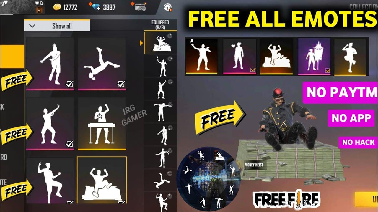 How To Unlock All Emotes In Free Fire Pointofgamer