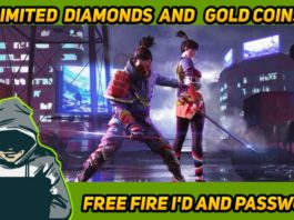 free fire id and password With Unlimited diamonds