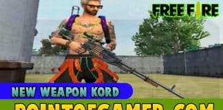 Free Fire New weapon Kord full details