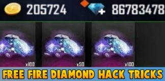 Free Fire Diamonds Hack Tricks