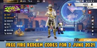 Free Fire Redeem codes For Today 3 June 2021