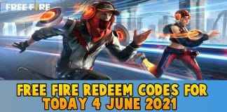 Free Fire Redeem codes For Today 4 June 2021