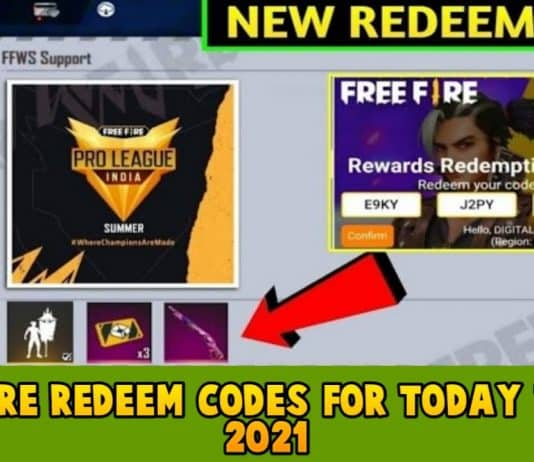 Free Fire Redeem codes For Today 7 June 2021