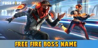Free fire name boss